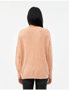 Marti Speckled Oversized Sweater In Pink by Which We Want Which We Want
