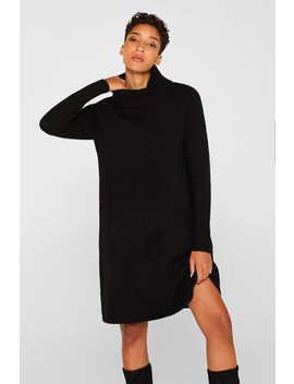 Mit Wolle: Strick Kleid Mit Stretch by Esprit