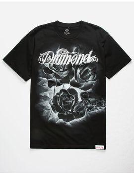 Diamond Supply Co. Giant Script Blossom Black Mens T Shirt by Tilly's
