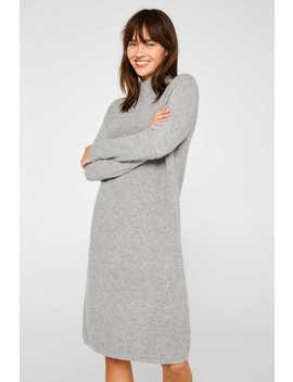 Mit Wolle: Strick Kleid Im Basic Look by Esprit