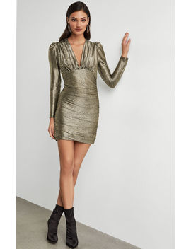 Metallic Shirred Bodycon Dress by Bcbgmaxazria