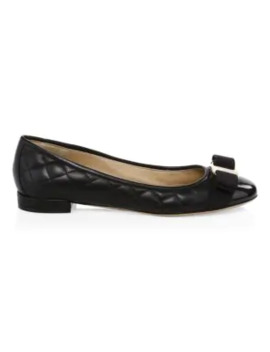 Varinaq Leather Ballet Flats by Salvatore Ferragamo