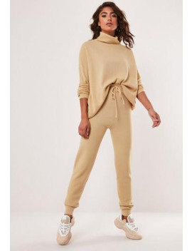 Sand Co Ord Knitted Leggings by Missguided