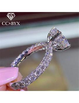 Cc Wedding Rings For Women Princess Luxury Propose Engagement Bridal Jewelry Cubic Zirconia Round Stone Fashion Bijoux Cc2101 by Ali Express.Com
