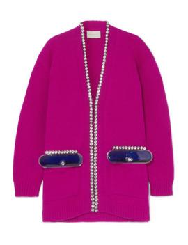Oversized Embellished Wool Cardigan by Christopher Kane