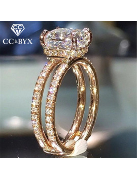 Cc Wedding Rings For Women Double Layer Princess Cubic Zirconia Square Stone Ring Engagement Bridal Romantic Jewelry Cc2188 by Ali Express.Com