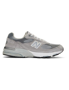 Grey Us Made Mr993 Gl Sneakers by New Balance