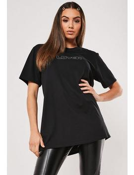 black-lover-reflective-graphic-t-shirt by missguided