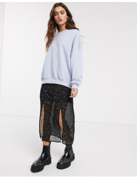 Bershka   Nibbled   Sweat Shirt   Bleu by Bershka