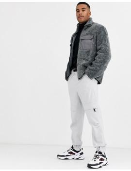 Asos Design   T Shirt Met Col, Lange Mouwen En Wafelstructuur In Zwart by Asos Design