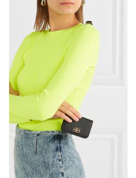 Bb Mini Textured Leather Wallet by Balenciaga