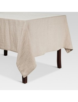 """104""""X60"""" Linen Kitchen Textiles Tablecloth Natural   Threshold™ by Threshold"""