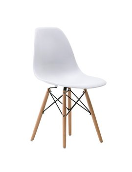 White Wrenshall Social Mid Century Side Chair by Allmodern
