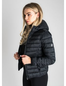 Gk Amie Hooded Jacket   Black by The Gym King