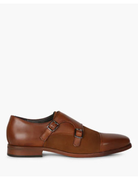 Low Top Panelled Monk Shoes by Stelvio