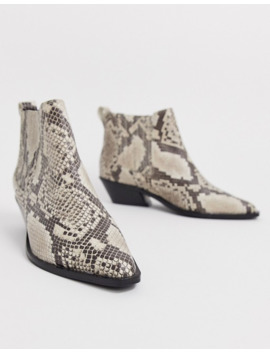 Asos Design   Adelaide   Bottines Chelsea En Cuir Style Western Pointure Large   Serpent by Asos Design
