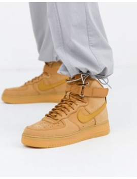 Nike Air Force 1 '07 Mid Trainers In Flax Cj9178 200 by Nike