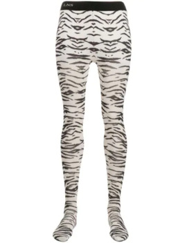 Zebra Print Tights by Laneus