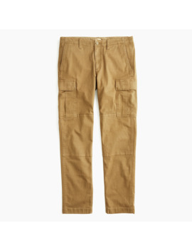 770™ Straight Fit Stretch Cargo Pant In Garment Dyed Herringbone by J.Crew