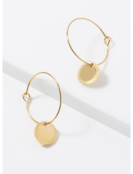 Golden Medallion Hoops by Simons