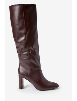 Forever Comfort® Feature Heel Knee High Boots by Next