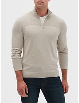 Premium Luxe Half Zip Sweater by Banana Republic Factory