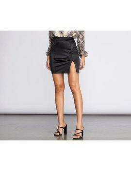 Side Slit Mini Skirt by Windsor