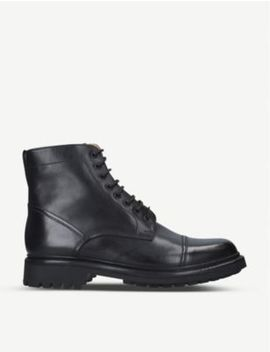 Joseph Military Style Leather Derby Boots by Grenson