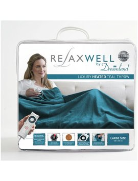 Relaxwell By Dreamland Heated Throw   Teal905/0109 by Argos