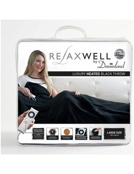 Relaxwell By Dreamland Luxury Velvety Heated Throw   Black719/9770 by Argos