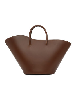 Brown Medium Open Tulip Tote by Little Liffner
