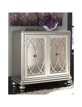 Darlyman Silver Contemporary Accent Cabinet by Signature Design By Ashley