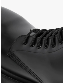 Black Strike Leather Boots by Balenciaga