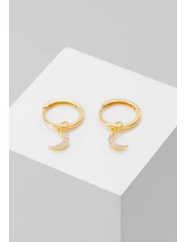 Mystic Moon Pendant Earrings Hoops   Ohrringe by Astrid & Miyu