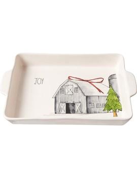 """Rae Dunn Christmas Barn Lasagna Baker   14x10"""" by Rae Dunn"""