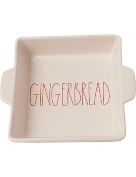 "Rae Dunn Gingerbread Square Baker   9x9"" by Rae Dunn"