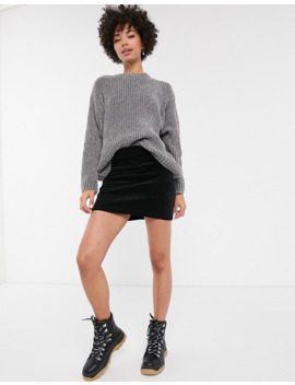 monki-chenille-crew-neck-jumper-in-grey by monki