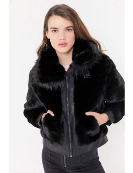 Blanknyc Faux Fur Bomber Jacket by Blanknyc