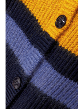 Color Block Merino Wool Blend Cardigan by Tory Burch
