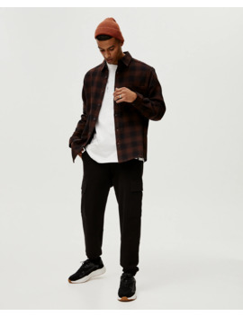 Check Cotton Shirt by Pull & Bear
