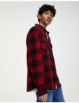 Basic Check Flannel Shirt by Pull & Bear