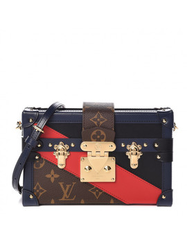 Louis Vuitton Monogram Malletage Print Petite Malle Marine Rouge by Louis Vuitton