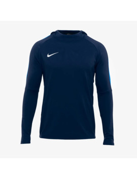 Nike Academy 18 Hoodie   Obsidian/Royal Blue by Pro Direct Soccer