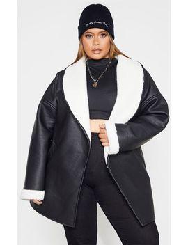 plus-black-pu-tie-waist-long-sleeve-jacket- by prettylittlething