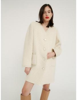 Tweed Mini Coat Twinkle Ivory by Overdueflair