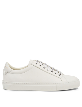 Urban Street Leather Sneakers With Logo Laces by Holt Renfrew