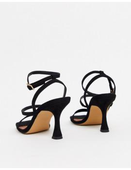 Asos Design Hailee Mid Heeled Sandals In Black by Asos Design