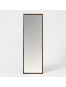 """60""""X20"""" Walnut Hairpin Finish Floor Mirror Brown   Project 62™ by Shop This Collection"""