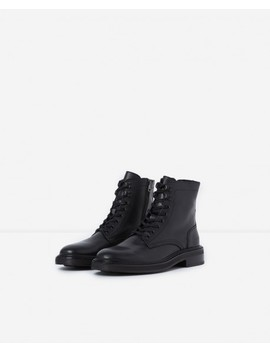 Biker Style Black Leather Ankle Boots by The Kooples