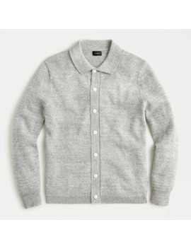 Wool Blend Polo Cardigan Sweater by J.Crew